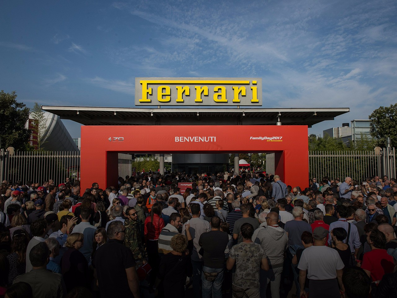A crowd of 18,000 flocks to the Ferrari Family Day
