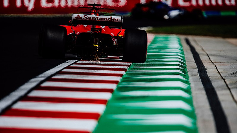Hungarian Grand Prix - Free Practice 1: Ferrari 2nd and 6th