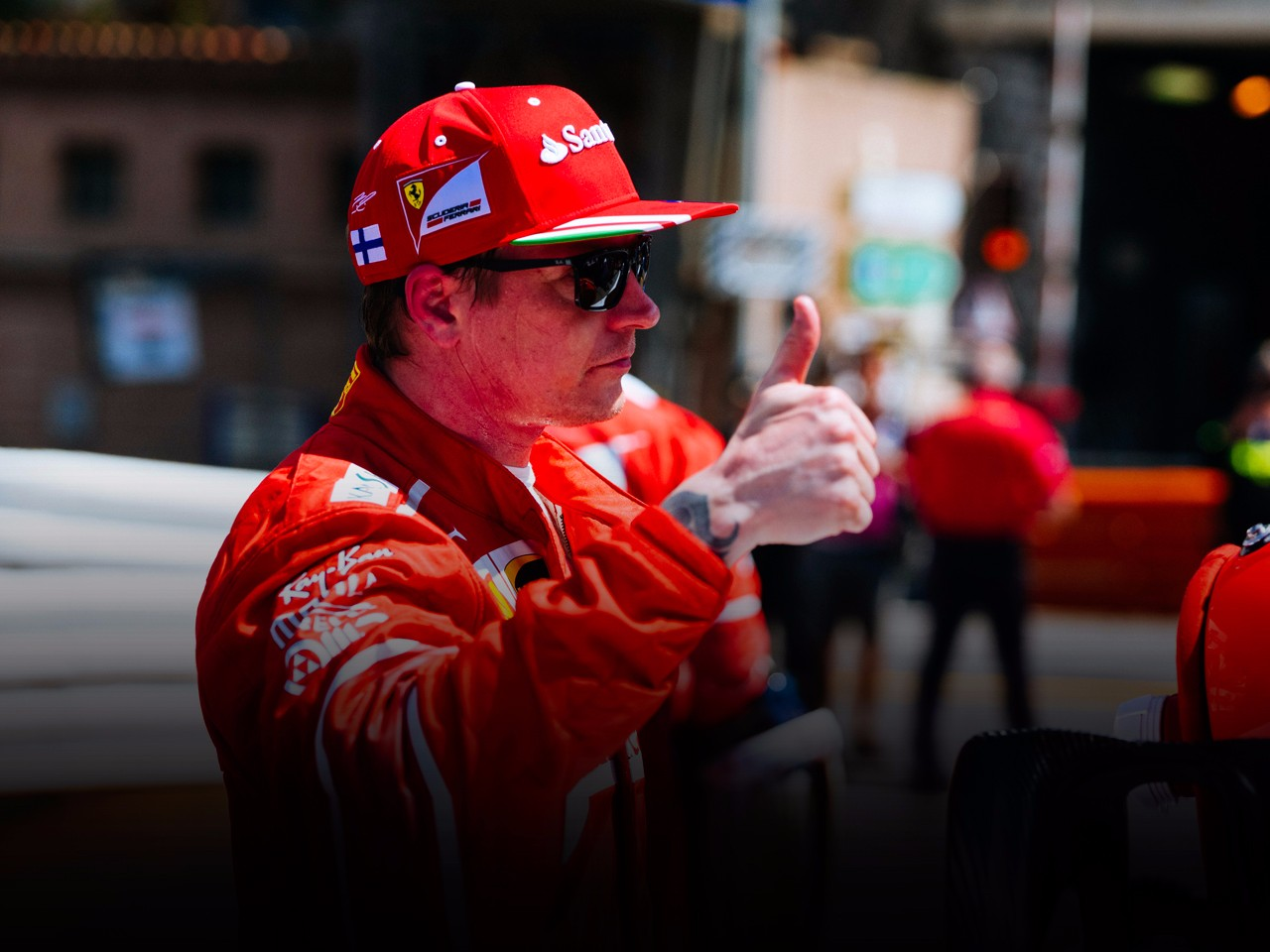 An all-Ferrari front row