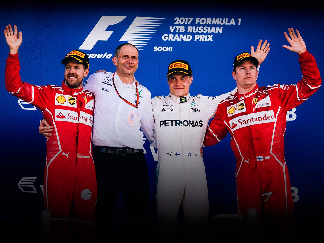 A double podium for Scuderia Ferrari